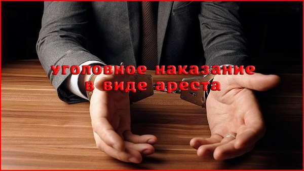 Арест как вид уголовного наказания для осуждённых