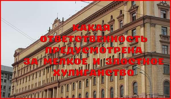 Состав и наказание за злостное и мелкое хулиганство – статья 213 УК РФ