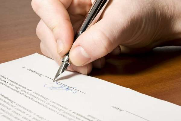 подпись на протоколе