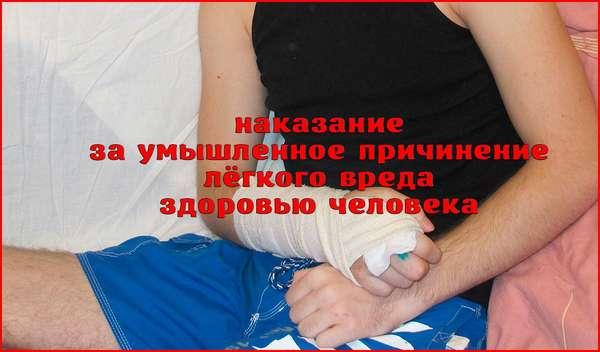 Умышленное причинение лёгкого вреда здоровью: статья, виды, наказание
