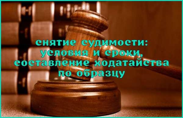 Снятие судимости: сроки, образец ходатайства, суд