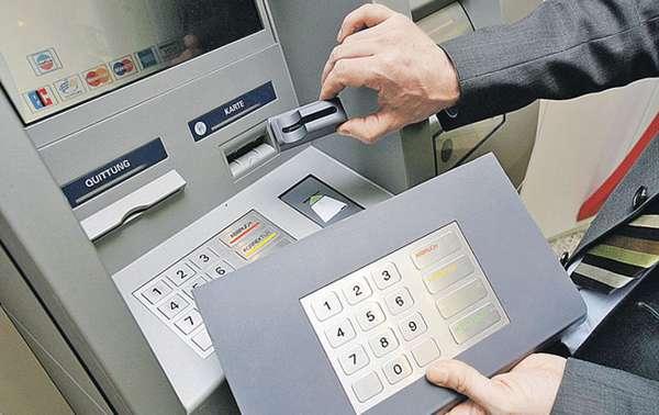 Фальшивые части банкомата