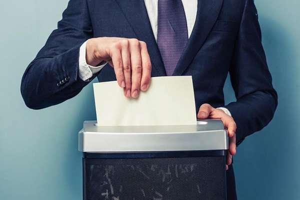 Процесс уничтожения документов