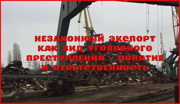 Ответственность за незаконный экспорт из Российской Федерации