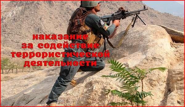 Уголовная ответственность за содействие террористической деятельности